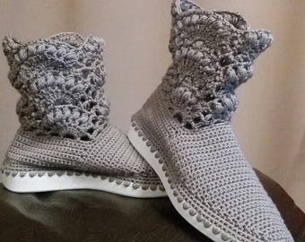 Crochet boots for women