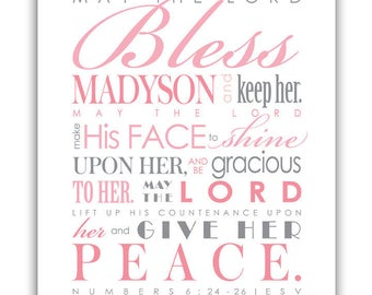 MAY the LORD BLESS You and Keep You - Digital File - Print & Frame Your Own Personalized Scripture - Num. 6 Blessing