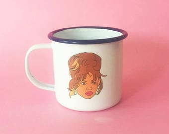 Beyonce Enamel Dishwasher Illustrated 8cm Mug