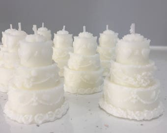 Wedding Favour Candles, Wedding Cake Candle, Wedding Candle, Candle Favours, Gift Wrapped, Lots of Colours Available.
