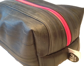 The Rubber Dub Dub™ unlined wash, DOPP, toiletries bag, - vegan upcycled bicycle inner tubes