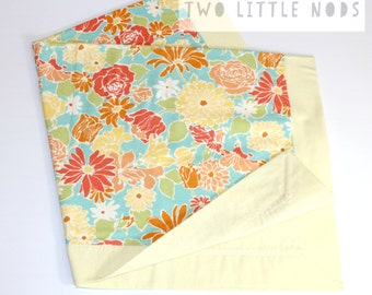 Yellow Floral Baby Blanket / Flannel Blanket / Baby Shower Gift / Swaddle Blanket / Baby Receiving Blanket / Pram Blanket / Cot Blanket