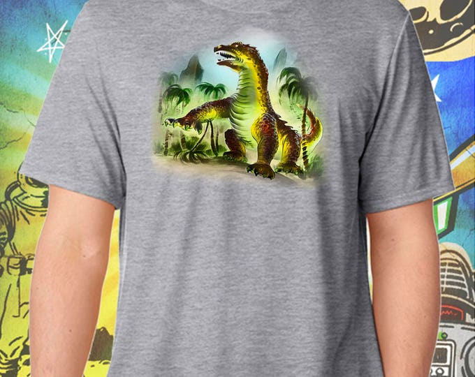 Classic Monsters / Beast From 20000 Fathoms / Ray Harryhausen / Men's Gray Performance T-Shirt