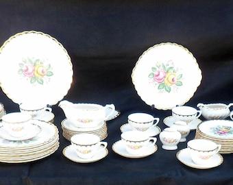 79-Piece Set Royal China Quban Royal Dinnerware, Service for 8+, circa 1930's