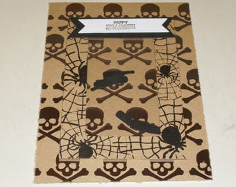 Halloween skull Shaker Card