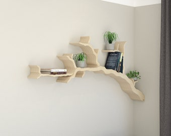 NEW PRODUCT | The Wiltshire Oak Branch Shelf 1.8m Size | Branch Shelf | Tree Bookshelf | Tree Shaped Book Shelf | Made in the UK