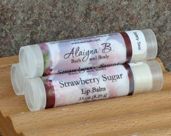 Strawberry Sugar Lip Balm with Cocoa Butter