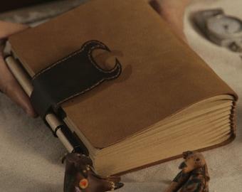 Taurus constellation cattle Handmade  journal ,leather journal blank notebook , handbound,unique gift  sketchbook birthday present