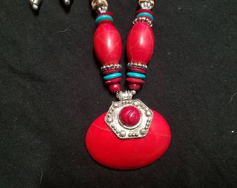 Red set contemporary on any outfit