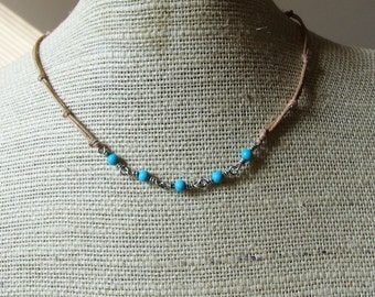 Sterling Silver Turquesa en las Campinas Choker (Turquoise in the Fields)