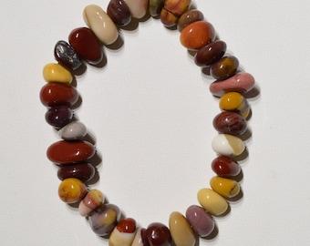 Jewelry - Bracelet Moukaite Jasper - Natural tumbled jasper tumblestones bracelet