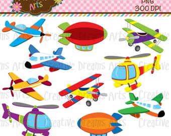 40% Off! Lets Fly/ AirplanesDigital Clip Art Instant Download