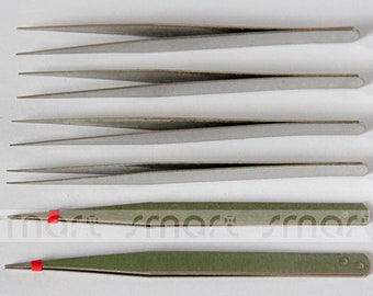 Stainless High Quality Steel 13.5cm Jewelry Making tools Straight Tweezers