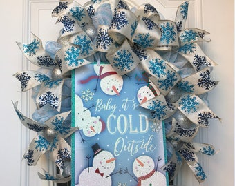Baby It's Cold Outside Christmas Wreath