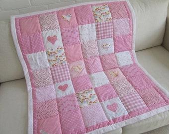 HANDMADE Patchwork  Baby quilt - Play Mat.