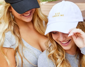 RIP Single Me & RIP Sober Me Bachelorette Party Hats | Perfect Beach Squad Dad Hats | Bride and Bridesmaid Gifts | Bridal Hat