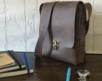 "Leather iPad Air Bag iPad Pro 10,5"" Bag Carry All Case Shoulder Bag Unisex Bag Leather Crossbody Bag Woman Bag Men Bag, Mens Leather Satchel"