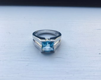 Blue Topaz Sterling Silver 925S Ring