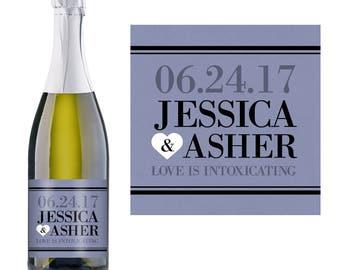 Wedding Champagne Label - Custom Champagne Label - Personalized Champagne Label - Wedding Champagne Bottle Label - Bridal Shower Champagne
