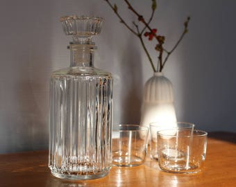 Whiskey glass decanter, vintage