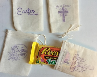 Sunday school bag etsy easter gift bags muslin 4 x 3 available in 4 x 6 5 x negle Image collections
