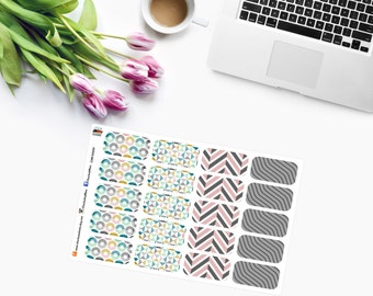 Geometrical HALF BOXES Planner Stickers  CAM00259