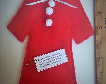Santa's PJs Gift Card Holder - Christmas Gift Card Holder - Holiday Gift Wrapping