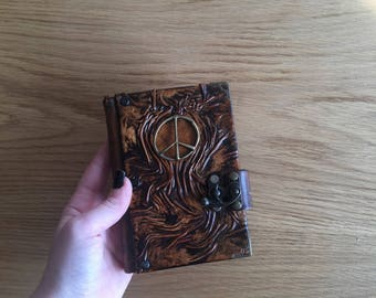 Steampunk Journal, Leather Journal, Leather Notebook, Travel Journal, Leather Diary