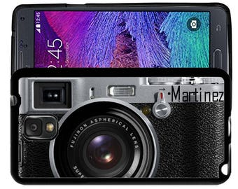 Personalize Rubber Case For Samsung Note 3, Note 4, Note 5, or Note 8- Black Camera Photgraphy