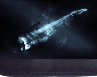 Smoking Electric Guitar Black Pencil Bag - Pencil Case