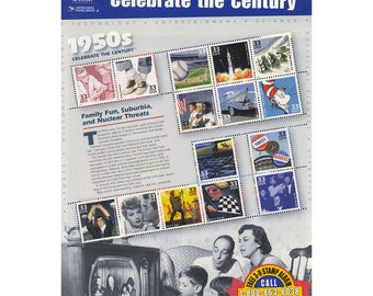 Celebrate the Century: 1950s US Stamp Collection