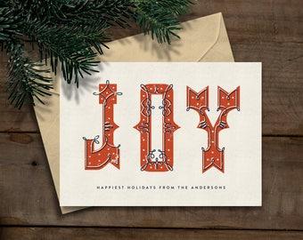Printable Custom Christmas/Holiday Card (Instant Download)