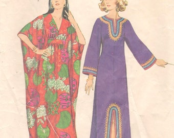 Simplicity 5315 1970s Misses CAFTaN Pattern Kimono Sleeve Womens Vintage Sewing Pattern Size Small Bust 31 32 OR Medium Bust 34 36 Or Lg