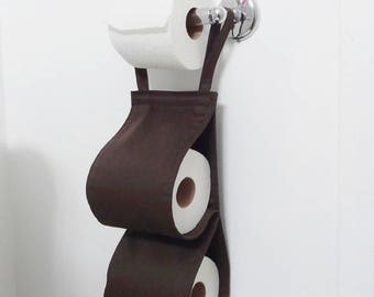 Fabric Toilet Paper Holder - chocolate