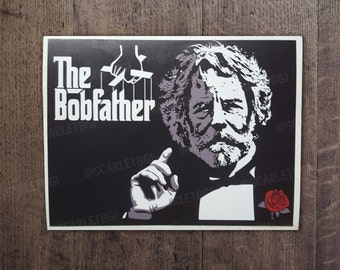 Vinyl Stickers / Decals: The Bobfather starring Bob Weir of the Grateful Dead
