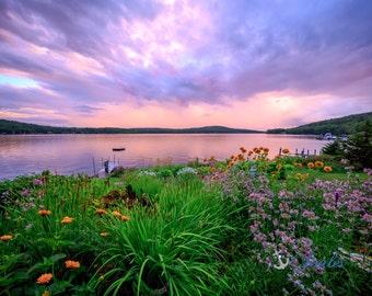 Limited Edition ~ Lake Winnipesaukee Summers ~ Church Landing ~ Lake Photo, Meredith, New Hampshire, Fine Art Canvas, New England, Rainbow