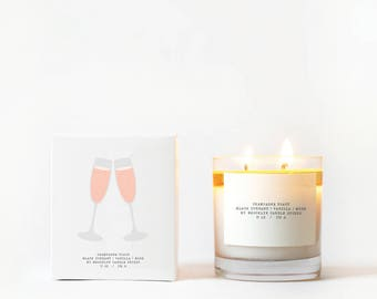 Champagne Toast Double-Wicked Boxed Candle
