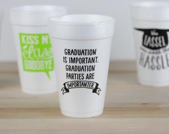 Graduation Party Cups, Funny Graduation Party Cups, Class of 2017, High School Graduation, College Graduation, Congrats Grad, Senior Party