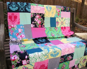 Jennifer Paganelli Beauty Queen Patchwork and Minky Blanket