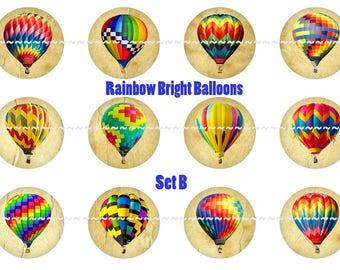 Balloon Magnets Pins Hot Air Ships Party Favors Wedding Favors Gift Sets Hot Air Balloons Air Ships Fridge Magnets