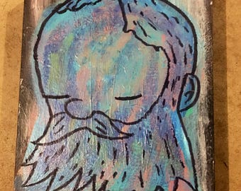 The Thinker  An original painting by James E. Thurman 11x14 93.75