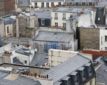 Paris Photography, Paris Roof Tops, Paris Buildings. French Windows, Gray Art, Parisian Homes. French Home Decor, French Wall Art, France