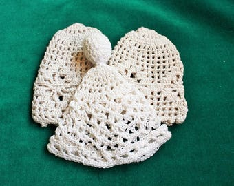 Three Hand-Crocheted Boiled/Easter Egg Cozies 1970s