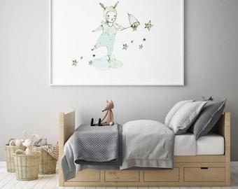 Nursery wall art, girl nursery wall art, baby girl nursery, nursery art girl, girl nursery decor, nursery decor girl, nursery art girl