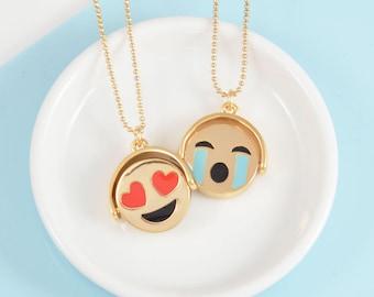Reversible Emoji Necklace