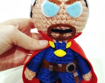 Dr. Strange, Marvel Comics, action figure, toy, Agamotto, superheroes, Stephen Vincent Strange, Avengers,  Strange Tales,  amigurumi