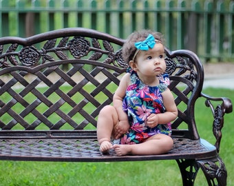 Floral Romper, Summer Bubble, Floral Outfit, Baby Girl Romper, Bubble Romper, Toddler Romper, Birthday Outfit, Summer Romper, Baby Gift