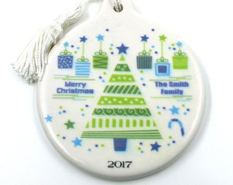 Personalized Customized Christmas Tree Ornament