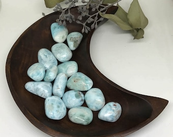 Tumbled Larimar - A Stone for Deep Peace and Tranquility