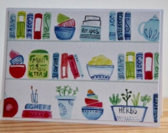 12 Kitchen-Themed Note Cards. Pantry Note Card Set. Blank Note Cards. Kitchen Gift. Cooking Club Note Cards. Cooking Gift. Kitchen Party